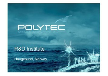 Polytec R&D Institute - Maritime and Innovation Brokerage Event