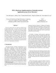 FPGA Hardware Implementation of Statically-derived Application ...