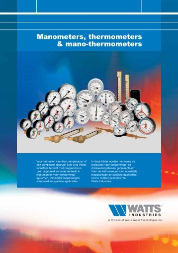 Manometers, thermometers & mano-thermometers - Watts Industries ...