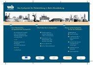 Das Suchportal für Weiterbildung in Berlin-Brandenburg