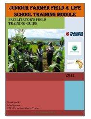JUNIOUR FARMER FIELD & LIFE SCHOOL TRAINING ... - Avsi