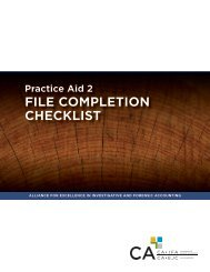 FILE COMPLETION CHECKLIST - Canadian Institute of Chartered ...