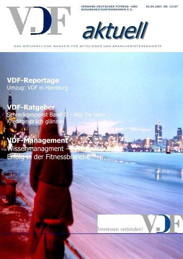 VDF aktuell Nr.13, 05.04.07