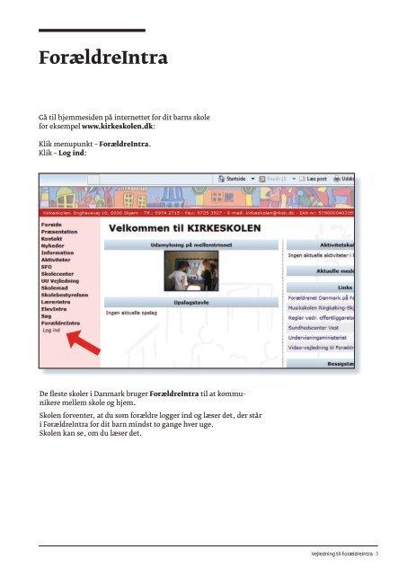 Vejledning til ForældreIntra på let dansk - Uni-C