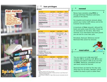 Books Due renewal reservation loan privileges - Library