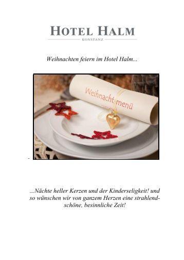 Hotel Seehof Berlin Speisekarte