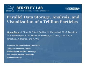 Presentation (~11MB) - SDM - Lawrence Berkeley National Laboratory