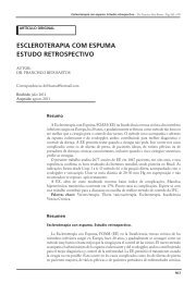 escleroterapia com espuma estudo retrospectivo - Sociedad de ...