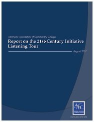 Report on the 21st-Century Initiative Listening Tour - American ...