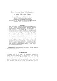Level Sweeping of the Value Function in Linear Differential Games