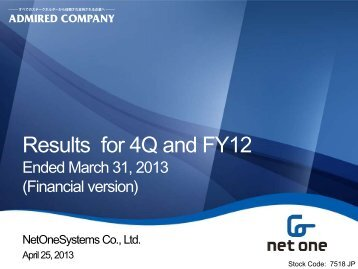 Results for 4Q and FY12
