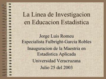 La Linea de Investigacion en Educacion Estadistica