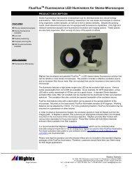 FluoFlux Fluorescence LED Illuminators for ... - Mightex Systems