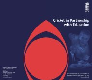 Cricket in Partnership with Education - Ecb - England and Wales ...