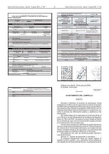Reglamento de uso de instalaciones deportivas - Ayuntamiento de ...