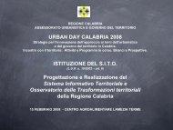 Progetto S.I.T.O. - Regione Calabria - Dipartimento Urbanistica e ...