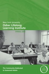 Osher Lifelong Learning Institute - School of Continuing and ...