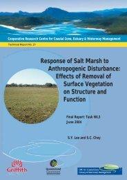 Response of Salt Marsh to Anthropogenic Disturbance ... - OzCoasts