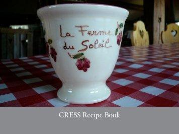 CRESS Recipe Book - Centre for Research in Social Simulation