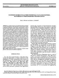 nonpoint source pollution potential in an agricultural watershed in ...