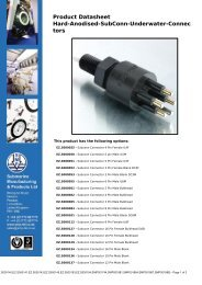 Product Datasheet - Submarine Manufacturing and Products Ltd