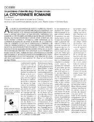 la citoyenneté romaine, ella hermon, traces, volume 42