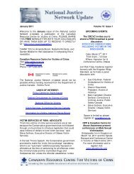 January 2011 Volume 18, Issue 1 - Canadian Resource Centre for ...