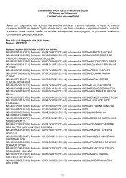 Pauta de julgamento nº 023 a 036 da 1ª junta de recursos eRecurso