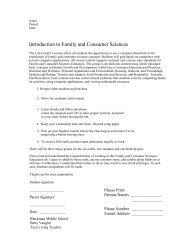 Introduction to Family and Consumer Sciences