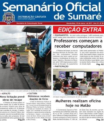 Semanário Oficial - Prefeitura Municipal de Sumaré - Governo do ...