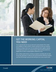 Get the Working Capital You Need – Export Development ... - EDC