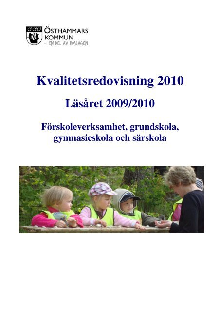 Kvalitetsredovisning 2010 - Östhammars kommun