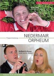 Niedermair Orpheum Programmzeitung 2. Ausgabe 2010 (PDF)
