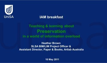 Preservation - Records and Information Management Professionals ...
