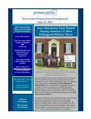 News from Preservation Pennsylvania July 18, 2011 Isaac ...
