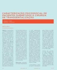 caracterização psicossocial de pacientes submetidos à cirurgia de ...
