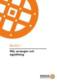 Bilaga 1: MÃ¥l, strategier och lagstiftning - Nacka kommun
