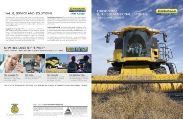 cx8000 series super conventional combines value ... - New Holland