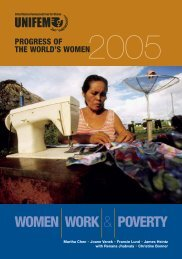 Progress of the World's Women 2005: Women, Work ... - UN Women