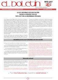 la ley orgánica de educación desde la perspectiva de fete-ugt en la ...