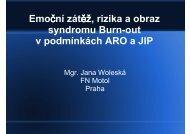Emoční zátěž, rizika a obraz syndromu Burn-out v podmínkách ARO ...