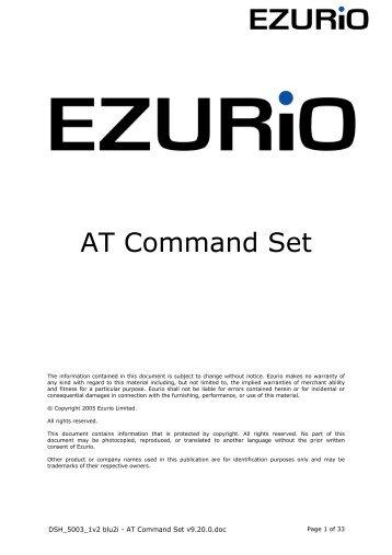 AT Command Set - Standard ICs