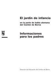 El jardín de infancia Informaciones para los padres - interunido