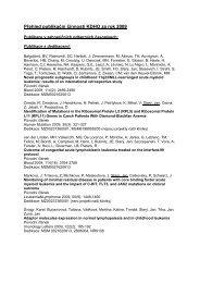 Publikační činnost v roce 2009 - Klinika dětské hematologie a ...