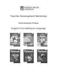 English FAL Intermediate Phase Teachers Module