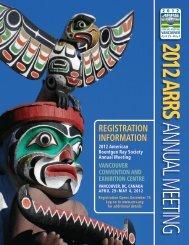 REGISTRATION INFORMATION - American Roentgen Ray Society