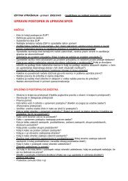 UPRAVNI POSTOPEK IN UPRAVNI SPOR - Student Info
