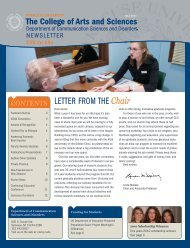 Alumni News, 2010 - Communication Sciences and Disorders