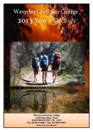 Year 8 Electives Booklet 2013