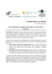 Des formations écoalimentaires dans les écoles de la Mauricie